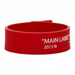 Off-White Red Thin Label Bracelet OMOA015S208510372001