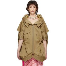 Junya Watanabe Beige Short Sleeve Trench Coat JE-J018-051