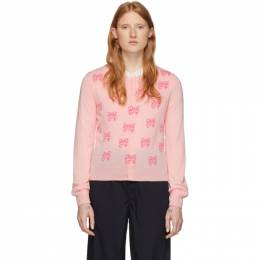 Comme Des Garcons Girl Pink Disney Edition All Over Ribbons Cardigan NE-N505-051