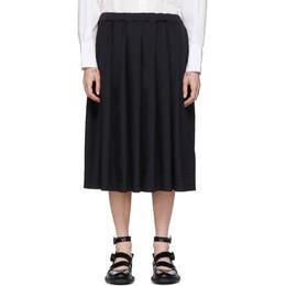 Comme Des Garcons Girl Navy Twill Pleated Skirt NE-S005-051