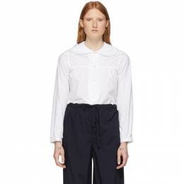 Comme Des Garcons Girl White Peter Pan Collar Shirt NE-B010-051