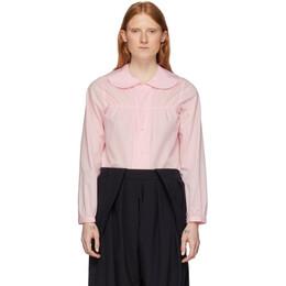 Comme Des Garcons Girl Pink Peter Pan Collar Blouse NE-B010-051