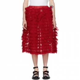 Comme Des Garcons Girl Red Tulle Ruffle Skirt NE-S006-051