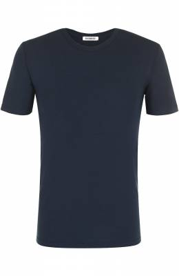 Хлопковая футболка с круглым вырезом Bikkembergs B41302T44