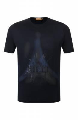 Хлопковая футболка Zilli MES-NT220-FIRE1/MC01