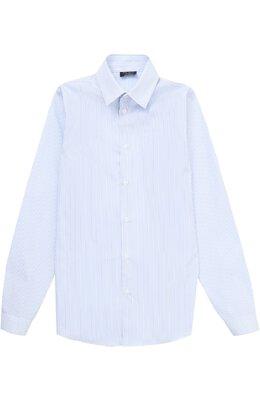 Хлопковая рубашка в мелкую полоску Dal Lago N402/2837/XS-L