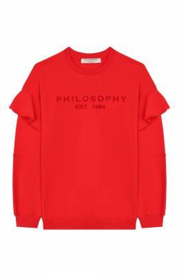 Хлопковый свитшот Philosophy Di Lorenzo Serafini Kids PJFE18/FE147/UH002/L-XL