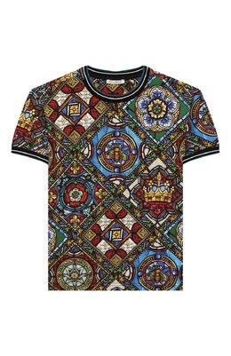 Хлопковая футболка Dolce&Gabbana L4JT8A/HS7AI/2-6