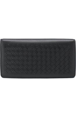 Кожаный бумажник с плетением intrecciato Bottega Veneta 445153/V001N