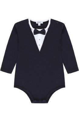 Хлопковое боди с контрастной отделкой и декоративным галстуком-бабочкой Aletta RM777069/24M