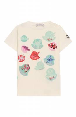 Хлопковая футболка Moncler Enfant E1-951-80713-05-8790A