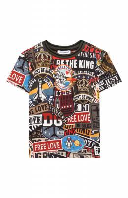 Хлопковая футболка Dolce&Gabbana L1JT8E/G7RNX