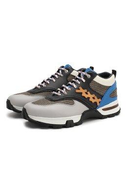 Комбинированные кроссовки Cesare Zegna Couture A4140X-STW