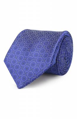 Шелковый галстук Zilli 50106/TIE