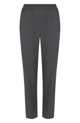 Укороченные шерстяные брюки со стрелками Brunello Cucinelli M0H61P6675