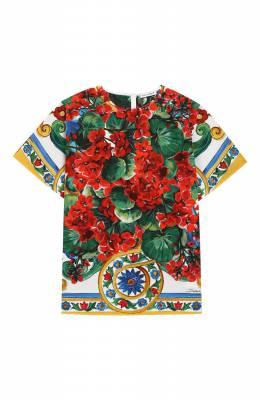 Хлопковая блузка Dolce&Gabbana L53S84/LA308/2-6