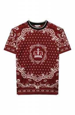 Хлопковая футболка Dolce&Gabbana L4JT9A/G7VGN/8-14