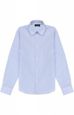 Хлопковая рубашка прямого кроя в полоску Dal Lago N402/2837/7-12