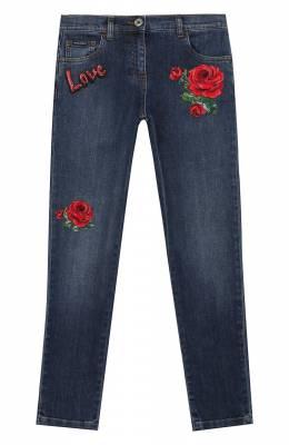 Джинсы с аппликациями Dolce&Gabbana L51F51/LD791/2-6