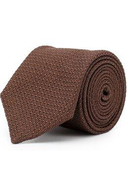 Шелковый вязаный галстук Lanvin 1208