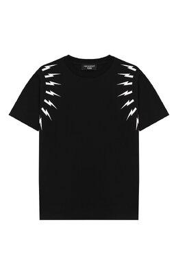 Хлопковая футболка Neil Barrett Kids 018628