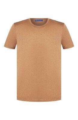 Шелковая футболка Andrea Campagna 60133/78301