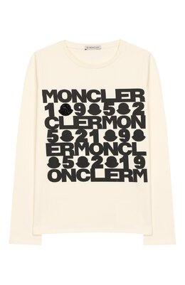 Хлопковый лонгслив Moncler Enfant E2-954-80752-50-87275/4-6A