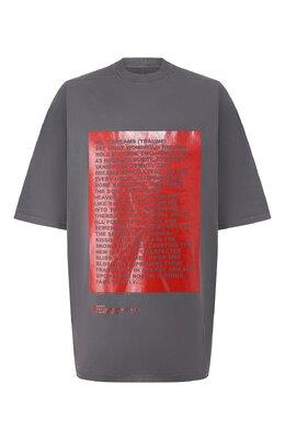 Хлопковая футболка Rick Owens DRKSHDW DU19F6274 RNEP4