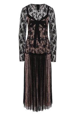 Приталенное платье-миди с круглым вырезом Bottega Veneta 513247/VEQY1