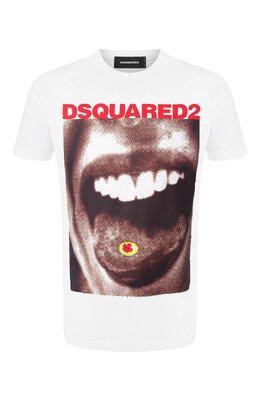 Хлопковая футболка Dsquared2 S74GD0564/S22427