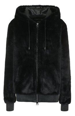Однотонная куртка с капюшоном и кожаной отделкой Tom Ford CSF571-FUF002
