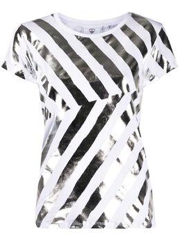 Rossignol футболка в полоску с эффектом металлик RLIWY19