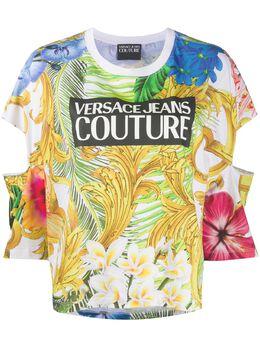 Versace Jeans Couture футболка с цветочным принтом B2HVA7K130329
