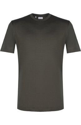 Шелковая футболка с круглым вырезом Brioni UJ7F0L/P7602
