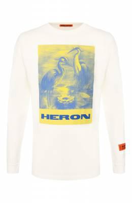 Хлопковый лонгслив Heron Preston HMAB005F196000080288
