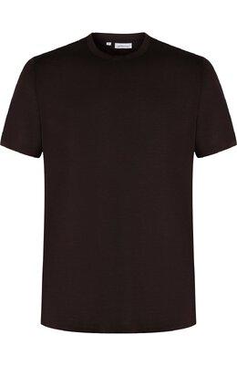 Шелковая футболка с круглым вырезом Brioni UJ7F0L/07608