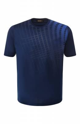 Хлопковая футболка Zilli MER-NT230-WAVE1/MC01