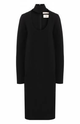 Платье из смеси вискозы и шерсти Bottega Veneta 571955/VKBA0