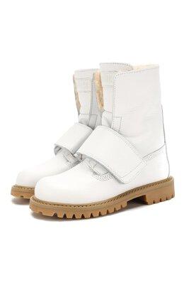 Кожаные ботинки с меховой отделкой Gallucci J30060BM/TR S S G0M ALC