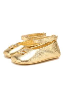 Кожаные пинетки Dolce&Gabbana DK0065/A6C66