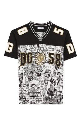 Хлопковая футболка Dolce&Gabbana L4JT9N/G7SEV/2-6