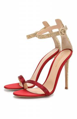 Текстильные босоножки Gianvito Rossi G61343.11RIC.RBUSYME
