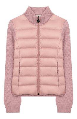 Шерстяная куртка с утеплителем Moncler Enfant E2-954-94531-05-9699C/12-14A