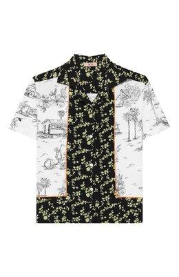 Хлопковая рубашка No. 21 N2148G/N0056/N21C21F