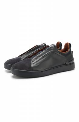 Кожаные кеды Zegna Couture A2511X-LHMS0