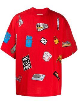 Buscemi футболка оверсайз с графичным принтом BMS20221