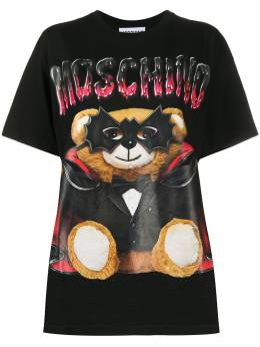 Moschino футболка с принтом Bat Teddy Bear V07110540