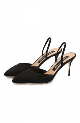 Замшевые туфли Godiva Sergio Rossi A73273-MCAZ01