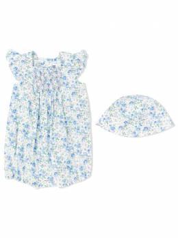 Ralph Lauren Kids комплект из комбинезона и шапки с цветочным принтом 310784620
