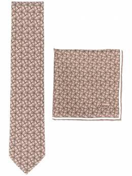 Brioni набор из платка и галстука с узором O8A900P942T